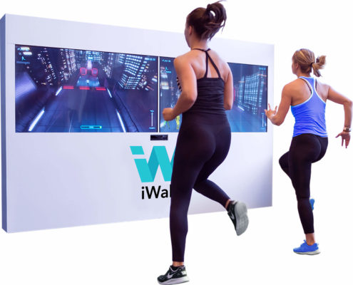 mur virtuel fitness Iwall